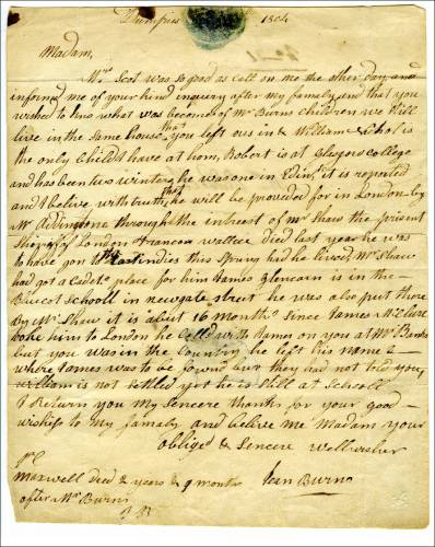 Письмо Бёрнса