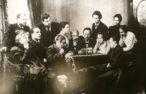 Чехов читает свою пьесу актёрам МХАТ
