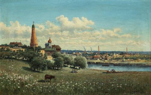 Маковская Александра Егоровна (1837-1915) «Вид Сим