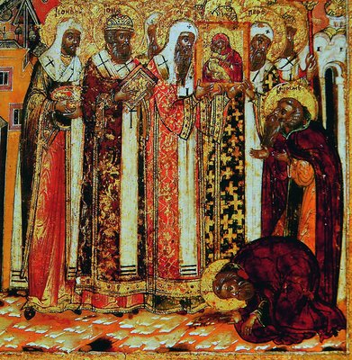 Видение св. Василия Блаженного Владимирской иконы
